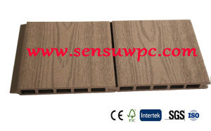 Sensu WPC Hollow Decking Decorated Garden