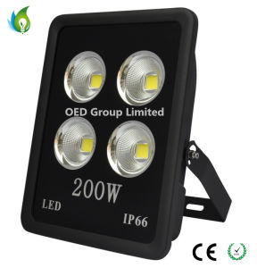 Outdoor IP66 200W LED Floodlight with Black Die Casting Aluminum and COB LED pictures & photos