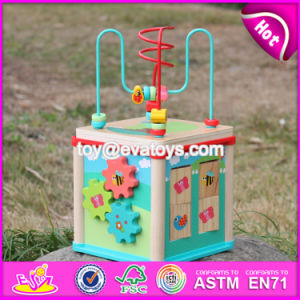 New Design 5 in 1 Multi-Function Children Wooden Activity Centre W11b133 pictures & photos