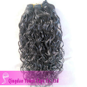 Water Wave Black Indian Hair Machine Made Weft (YM-KHW028)