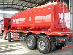 HOWO 6X4 Tray Truck with Tanker pictures & photos