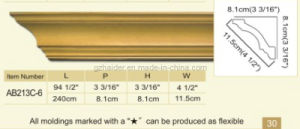 PU Crown Moulding, Cornice pictures & photos