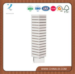 4 Sided Revolving Slat Wall Tower Display Stand pictures & photos