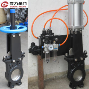 DIN Knife Gate Valve with Double Action Pneumatic Actuator pictures & photos