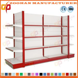 Metal Wall Shelving Supermarket Retail Rack Display Shelves Fixtures (Zhs418) pictures & photos