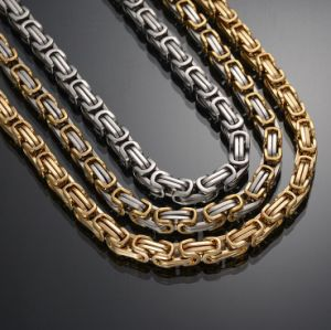 Whole Handmade 14k Gold Byzantine Chains Necklace Mjcn024