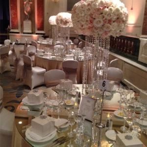 China Crystal Wedding Decoration Walk Way Stand Crystal Candleholder