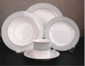 Dinnerware Sets 30 PCS New Bone China Round Plate Dinner Set for Wholesale : leopard print dinnerware set - pezcame.com