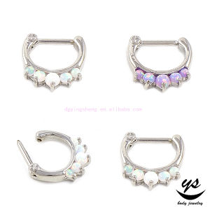 China High Quality Surgical Steel Cz 16 Gauge Septum Clicker Nose