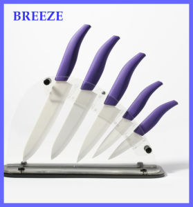 Purple Multifunction Zirconia Kitchen Ceramic Knife Set pictures & photos