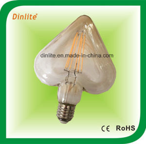Heart-Shaped Golden LED Filament Light Bulb pictures & photos