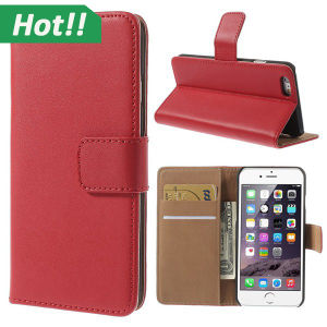 Luxury Wallet with Card Holder Stand PU Leather Case for iPhone 6
