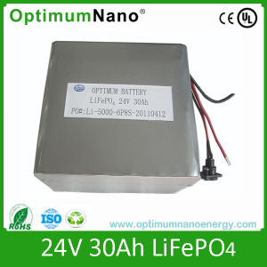 Deep Cycle 24V 30ah Rechargeable Lithium Battery pictures & photos