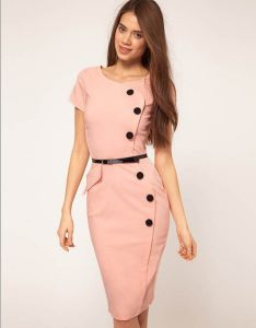 Factory Clothes OEM 2015 Fashion Office Women Bodycon Dress pictures & photos