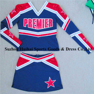 2017 Long Sleeve Spandex Cheerleading Uniforms pictures & photos