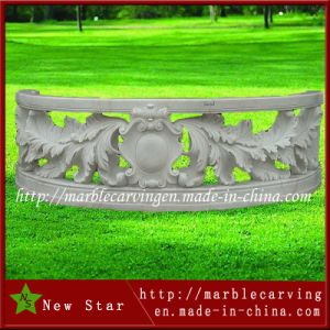 White Marble Staicase Post Railing Stone Carving Balustrade Sculpture pictures & photos