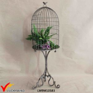 Rustic Metal Decorative Birdcage Stand Vintage pictures & photos