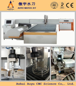 Fly Arm or Bridge Type Water Jet Cutting Machine for Granite 3-Axis Cutting pictures & photos