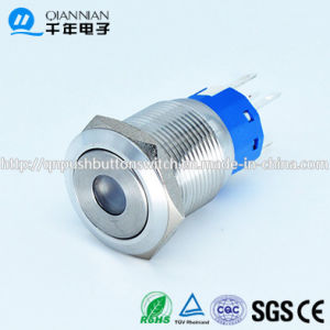 Qn19-C3 19mm DOT Type Momentary|Latching Flat Head Metal Push Button Switch pictures & photos