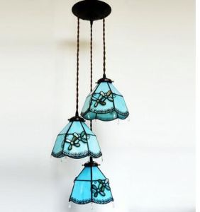 Tiffany Stained Gl Lamp Fancy Shade Colored Hanging Chandeliers Whole