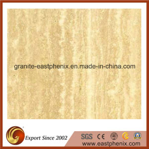 High Quality Polished Beige Travertine Ceramic Floor/ Wall Tile for Bathroom/Kitchen