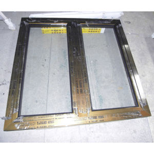 Electrophoresis Surface Treatment Brozne Colour Aluminium Profile Casement Window K03015