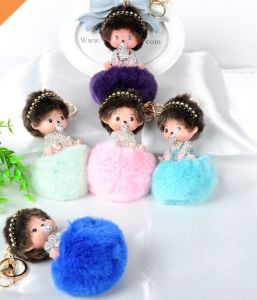 /Cheaper Price Rabbit Fur Balls for Key Chain / Phone Ring