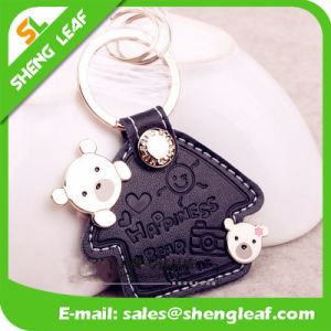 Good Quality Custom Logo Leather Key Chain (SLF-LK005)