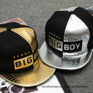078b8f797d942 China Faux Snake Skin Snapback Cap PU Leather Hats Custom Logo ...
