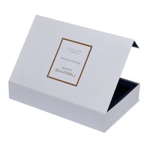 Magnet Closure Hinged Scarf White Cardboard Gift Box With Lid