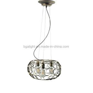 China 3 Heads Lampholder Vintage Bronze Color Metal Cage Ceiling Lamp Parts China Pendant Lamp Pendant Light