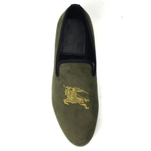 891604c2b538 China Men Velvet Loafers Shoes Green Smoking Slippers Drop Shipping ...