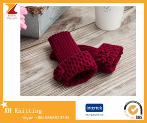 Hot-Selling Customed New Design Acrylic Knitted Mitten Gloves