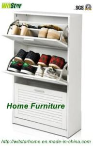 3 Storage Modern White Shoe Cabinate (WS16-0230)
