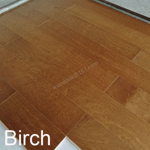 Wood Flooring Birch Engineered Flooring with Yellow Brown Color