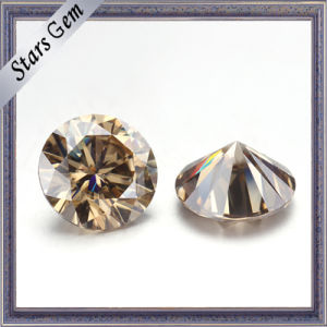 Customize Cutting Available Champagne Color Moissanite Diamond pictures & photos