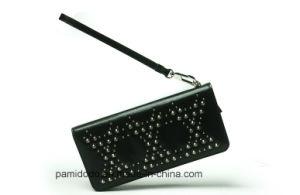 beaec0c518e China OEM Factory Stud Metal Fashion Woman Wallet