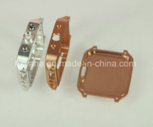 Precise Watch Housing Case Parts, CNC Machined Parts with Anodizing Color