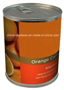 800g Can Soft Depilatory Wax Orange Flavor Wax pictures & photos