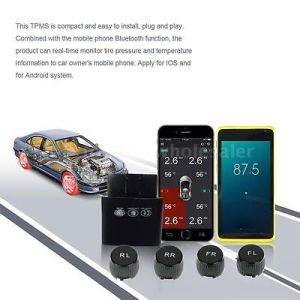 External OBD TPMS Tire Pressure Testing System Bluetooth Funtion APP in Smartphone Auto Parts Tire pictures & photos