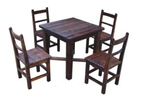Chinese Modern Solidwood Table and Chair Restaurant Set