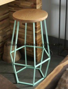 American Loft Simple Retro Bar Tables and Chairs, Wrought Iron Coffee Bar Stools New Solid Wood High Dining Chair (M-X3521) pictures & photos