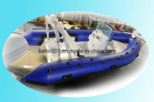 Korea Best Fiberglass Inflatable Boat with Center Console 470 Ce