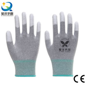 PU Top Coated Safety Gloves pictures & photos