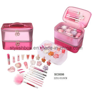 Lovely Pink PU Cosmetic Case (SC0006)