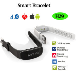 Newest Bluetooth Smart Bracelet with Heart Rate Monitoring (H29) pictures & photos