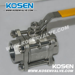 Threaded Stainless Steel Ball Valves (Three Piece Body)