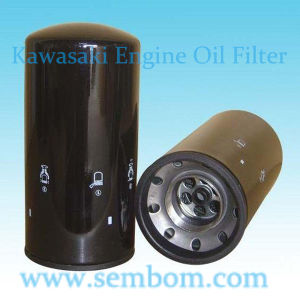 High Performance Engine Oil Filter for Kawasaki Excavator/Loader/Bulldozer