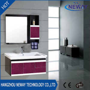 China Manufacturer Wall PVC Lowes Bathroom Vanity Cabinets
