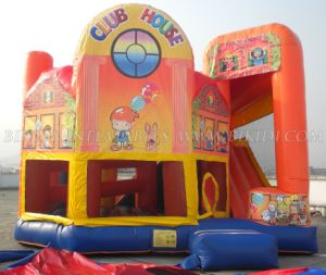 Inflatable Games, 5 in 1 Combo Castle with Theme Artwork, Bouncy Castle, Moonwalk (B2144) pictures & photos